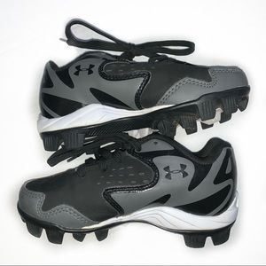 Under Armour Black and Grey Cleats Size 10K
